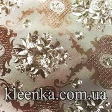 Клеёнка ПВХ Металл на тканевой основе Любава 20 м-T-6124A